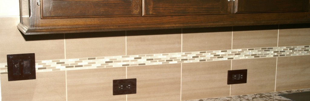 Ceramic Tile e back splash by Artisan Construction, 7321 N Antioch Gladstone, MO  64119